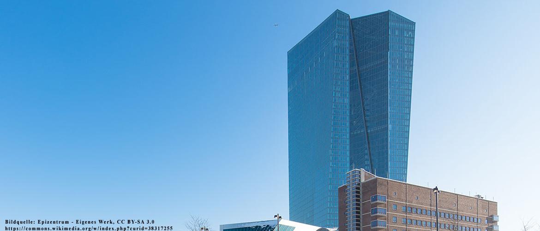 Frankfurt am Main: Gebäudekomplex der Europäischen Zentralbank, von Nordwesten gesehen (Dezember 2014)
